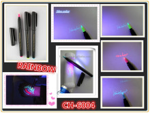2016 hot selling in Amazon uv resistant permanent marker pen security pen with uv light CH-6004