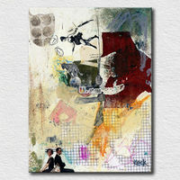 Modern lady picture abstract paintings of people for office room wall decoration