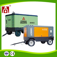 140 kw 13 bar Portable Diesel Breathing Silent Screw Air Compressor