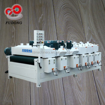 Solid wood plank wire brush & floor sanding machine