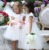 100% Polyester Clothes Petal Flower Applique Girls Party Dress Sweet Little Girl Frocks