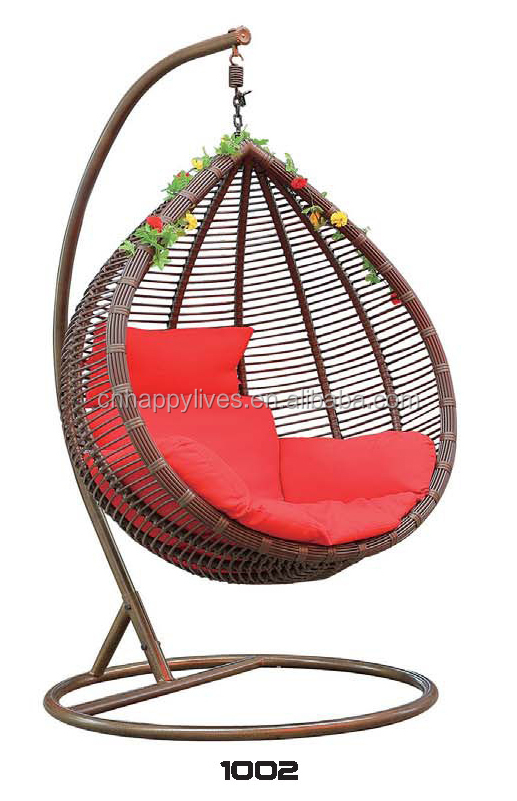 New convertible couch outdoor various styles D-1002 rattan swing bed for sale