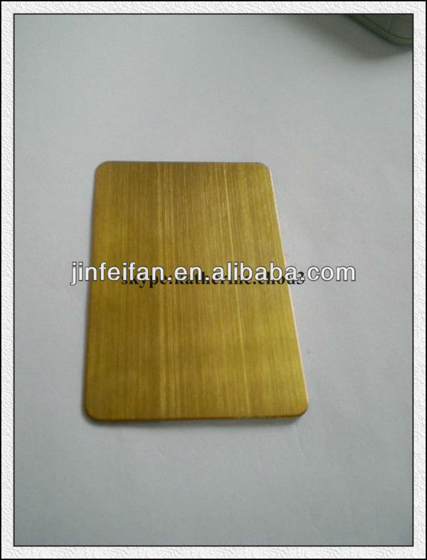 art brushed gold hairline surface stainless steel coloured sheet