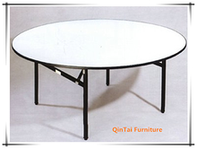 suitcase round HDPE folding plastic table/banquet round folding table