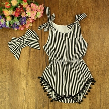 Girls Summer 2 pcs Cotton with Pompom Balls Sleeveless Tops Jumpsuit Children Clothing Factory Direct Sale