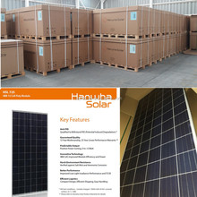 Free shipping MW stock supply: Grade A Hanwha 305-310w poly solar panel