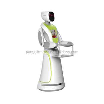 Smart Intelligent Robot Waiteress Programmable for Catering from Pangolin