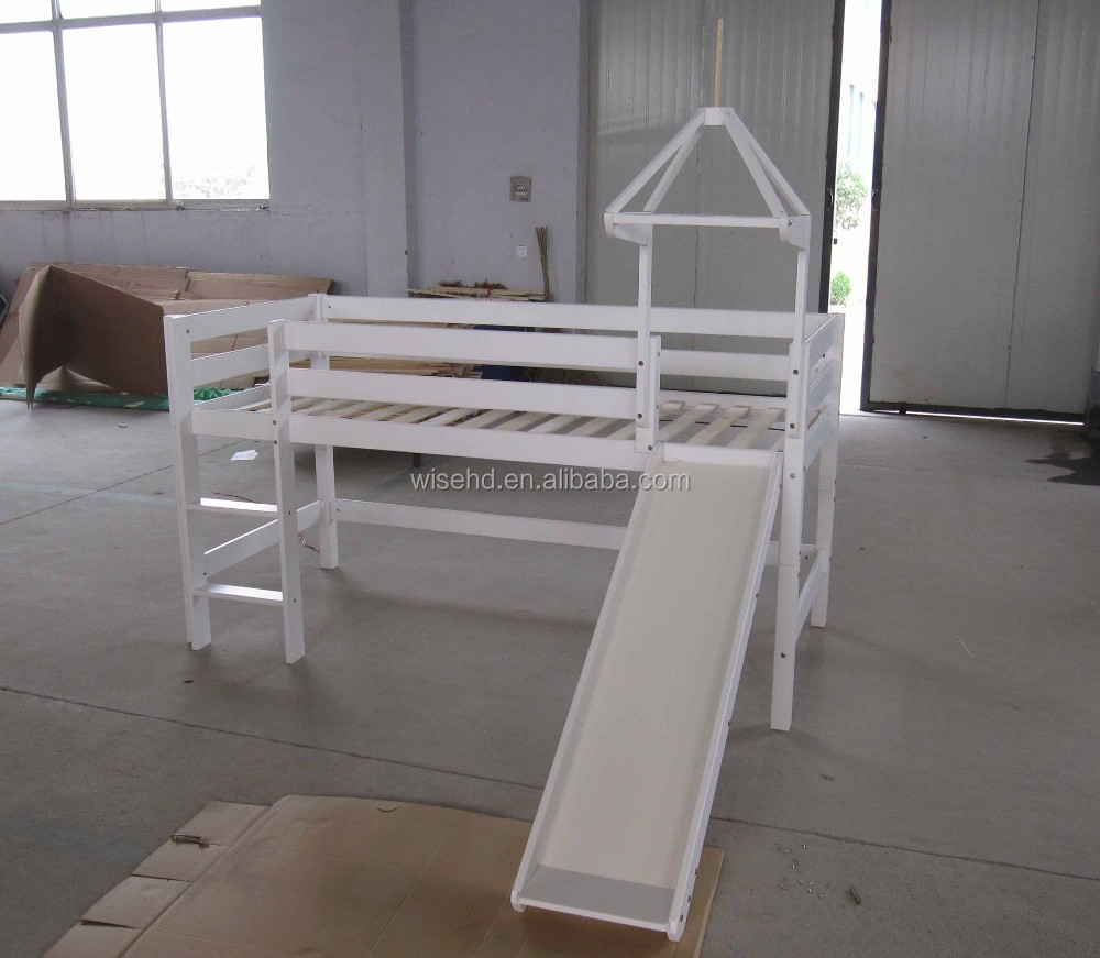 (WJZ-2502) pine wood castle bunk bed