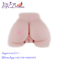 Realistic Silicone Sex Ass, Artificial Realistic Silicone Vagina Pussy Anal, Big Ass Sex Doll for Men