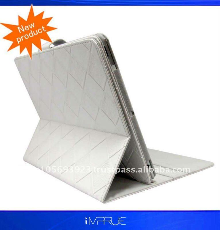 For Ipad 2 Leather Cover with top quality and factory price
