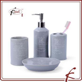 Kedali grey 2016 new personal ceramic bath set household product