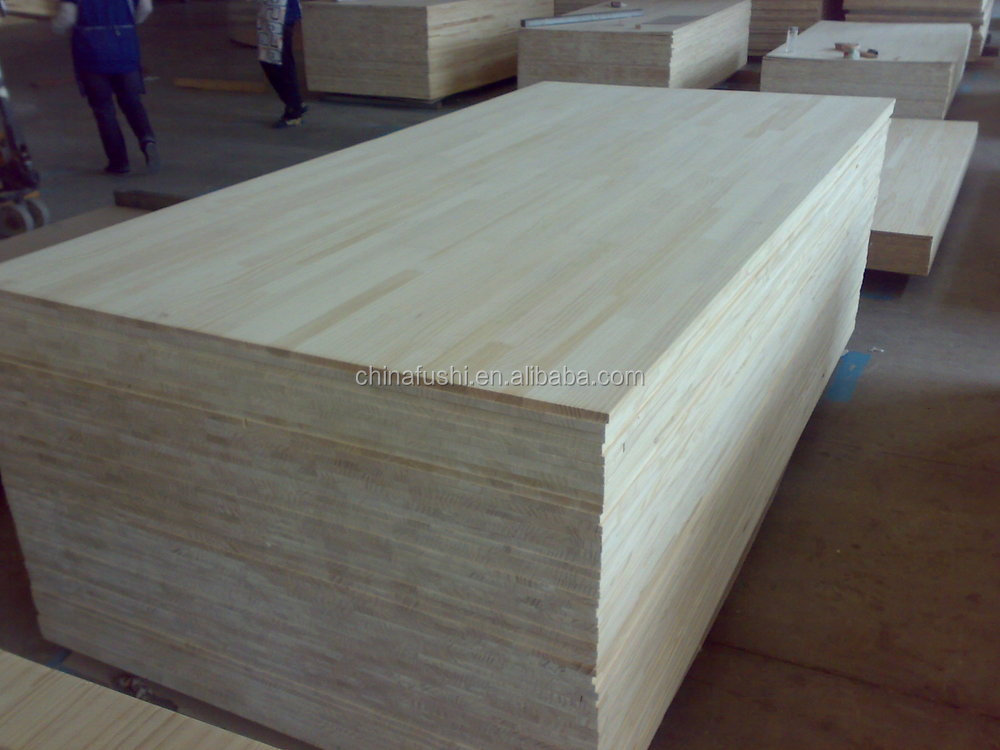 white painting paulownia finger jointed board