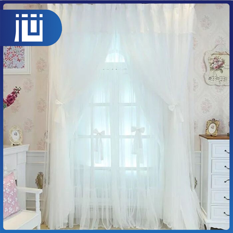Manufacturer factory price household luxury classical white lace curtain