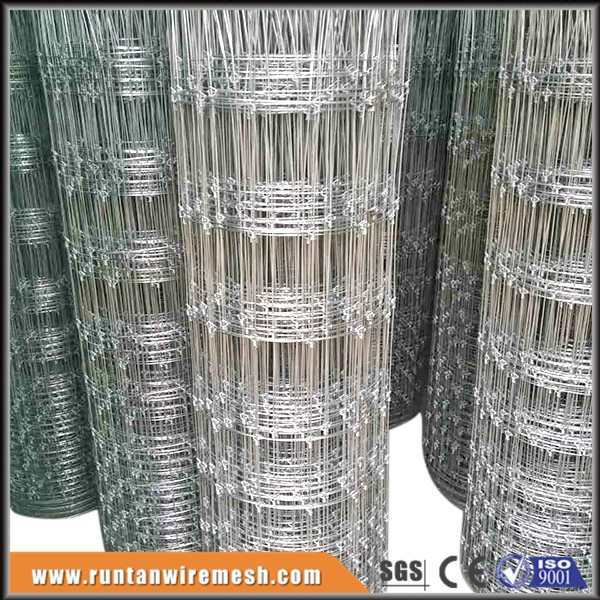 Long life hot dip galvanized deer and rabbit fencing
