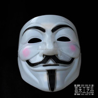 Hot sale popular PP white guy fawkes mask for wholesale
