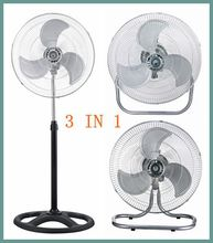 18 inch hot selling electric industrial fan 3 in 1(stand fan/wall fan/floor fan)