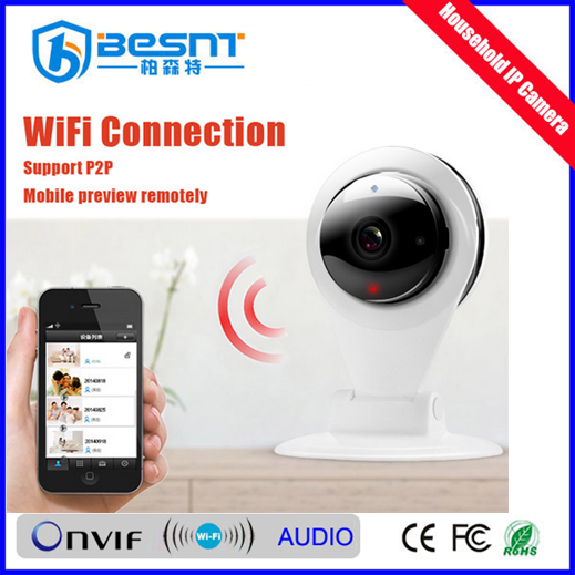 2016 Lowest price ever onvif night vision p2p household wireless wifi camera motion detection real time recording BS-IP07