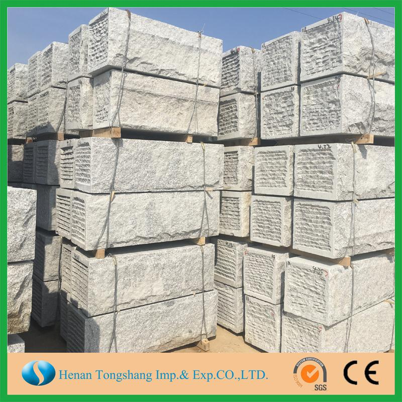 All sides nature split granite kerbstone manufacturers china granite pavers interlock tiles kerbstone for wholesales
