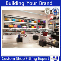 Advanced designed shop fixtures good quality hanging bag display stand
