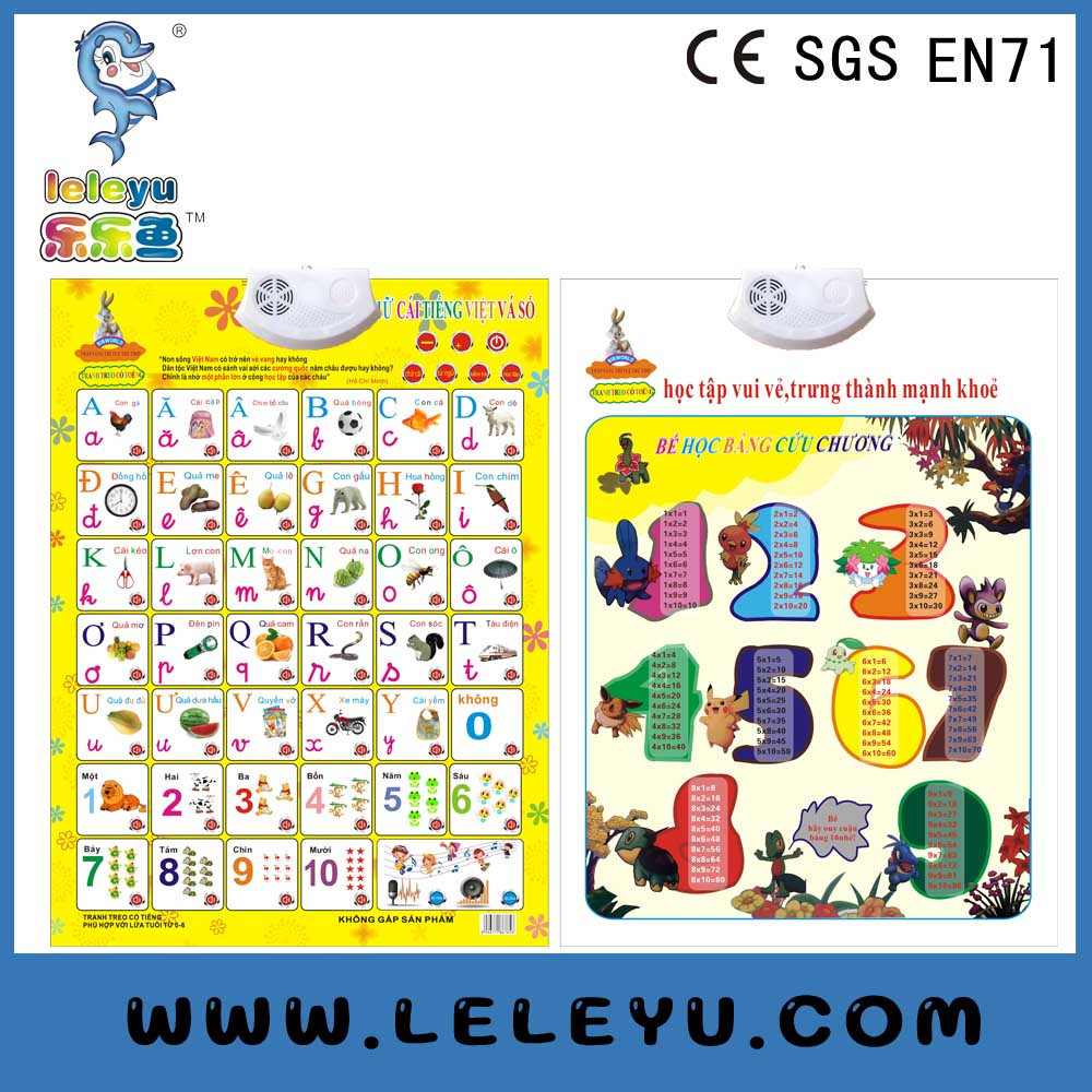 Vietnam Alphabet Learning Phonetic Charts education poster early educational toys China supplier