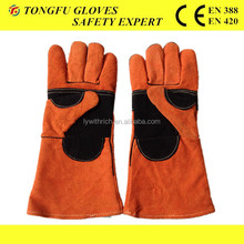 14'' 16'' long sleeve leather welding glove/long arm safety gloves