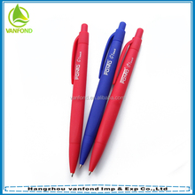 Soft rubber barrel advertising Logo click ballpen
