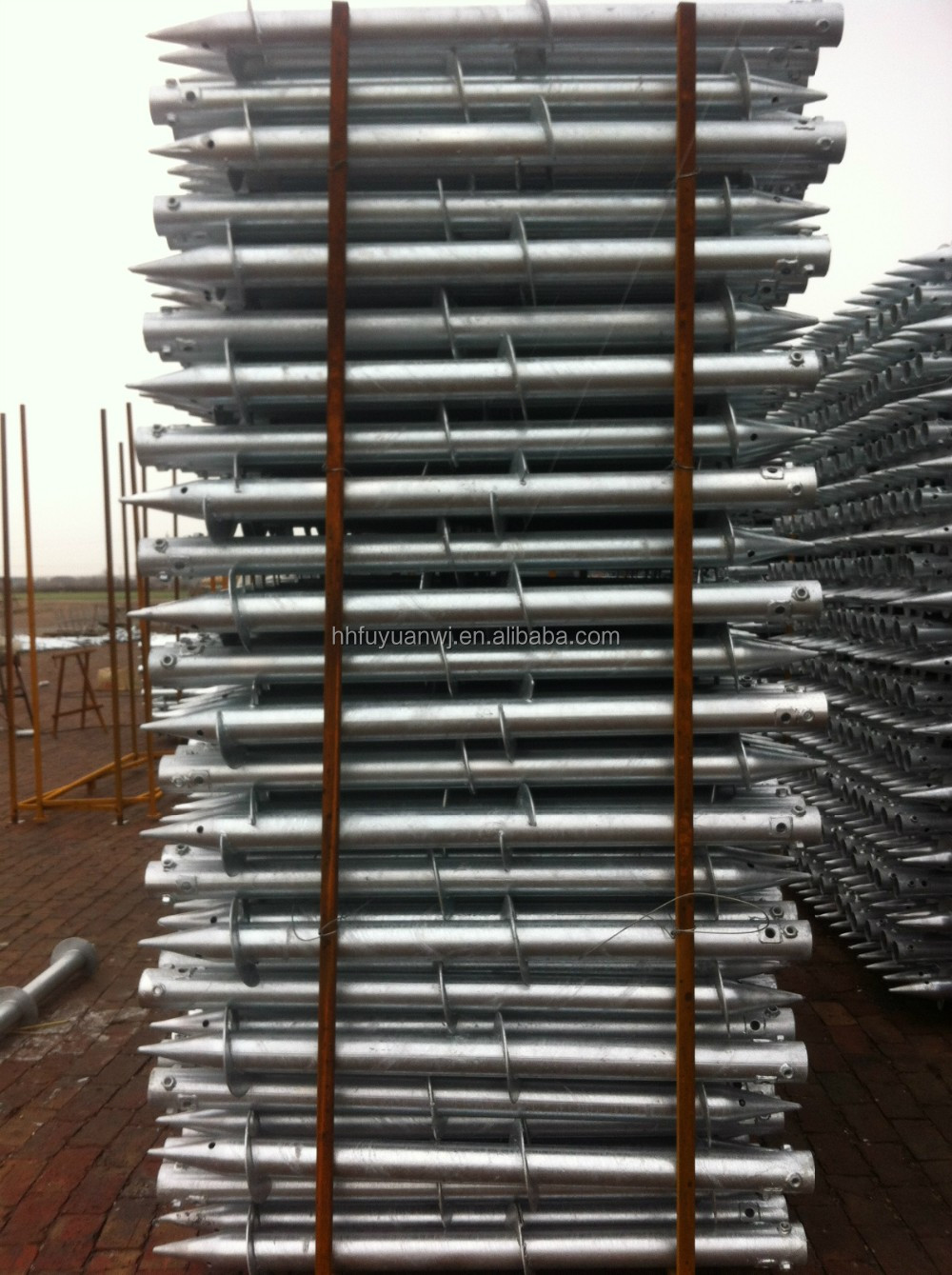 Factory Ground Screw Pile For Solar Ground Mounting System