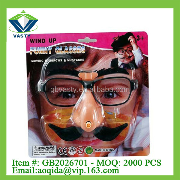 funny glasses with Nose, eyebrows and beard joke glasses