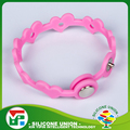Professional adjustable bulk cheap love heart custom silicon wristband