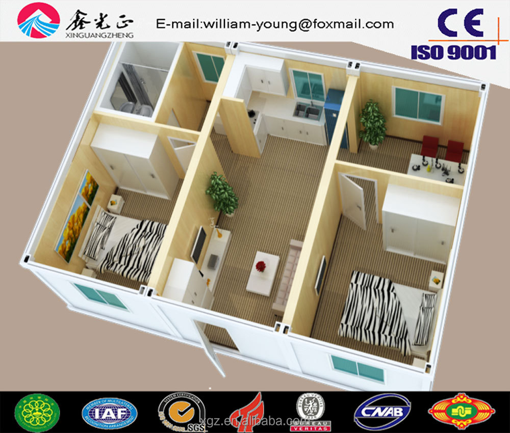 Low cost steel structure prefabricated building ,prefab container house,tiny house sale in Africa