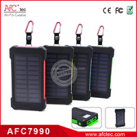 2015 outdoor rain resistant 8000mah high capacity sos solar power bank with 2a output for cell phone