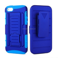 Hybrid design impact case combo back cover holster case for iphone 5