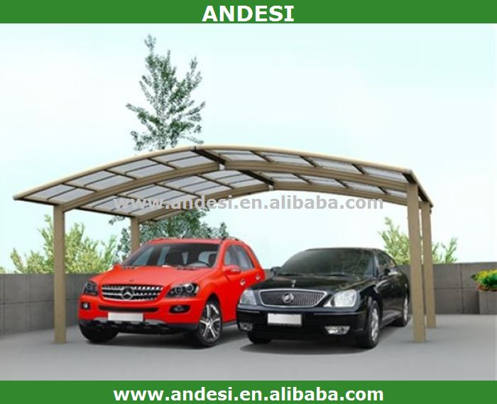 carport double aluminum with pc material roof