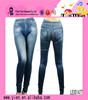 Custom Hot Sexy Tight Leggings Wholesale Top Quality High Waist Fake Pocket Women Jean Leggings