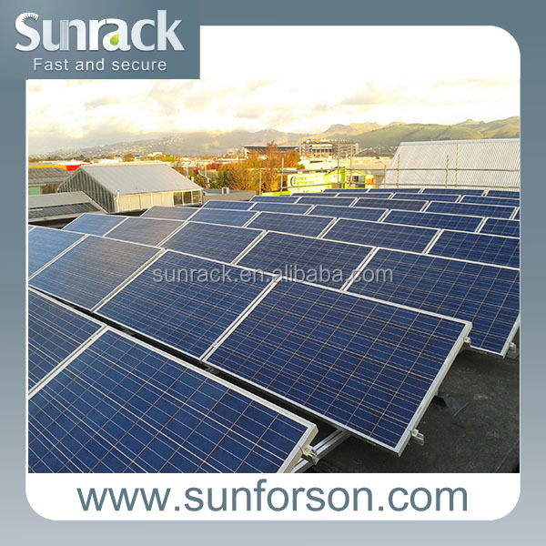 Flat roof solar panel mounting backets