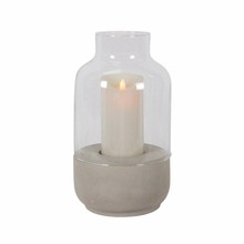 Electric fancy concrete round shaped Concrete Candle Holder