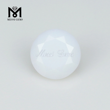 Loose Synthetic Round Diamond Cut Crystal White Nano Gemstone