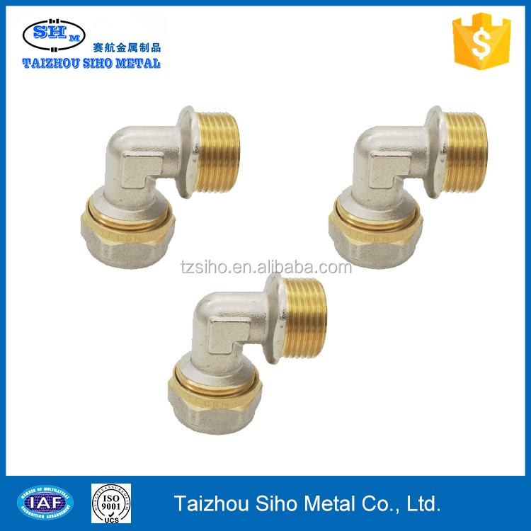 Brass Compression Fitting Reducing Male Elbow