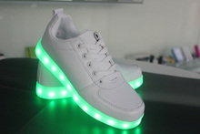 New product 2016 fashion design small woman led shoes with USB Charger template