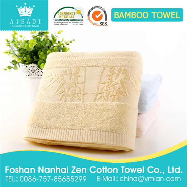 soft bamboo fiber face towel with high quality for family