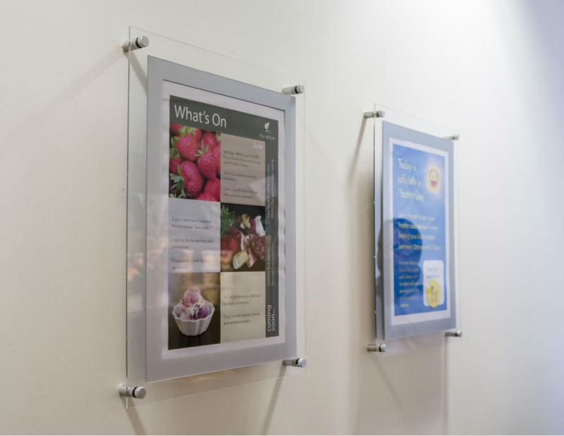 custom acrylic wall mounted poster frames