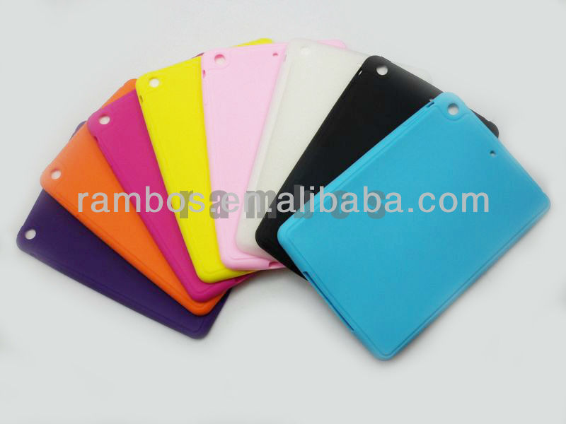 High Grade Silicon Rubber Tablet PC Case for iPad Mini