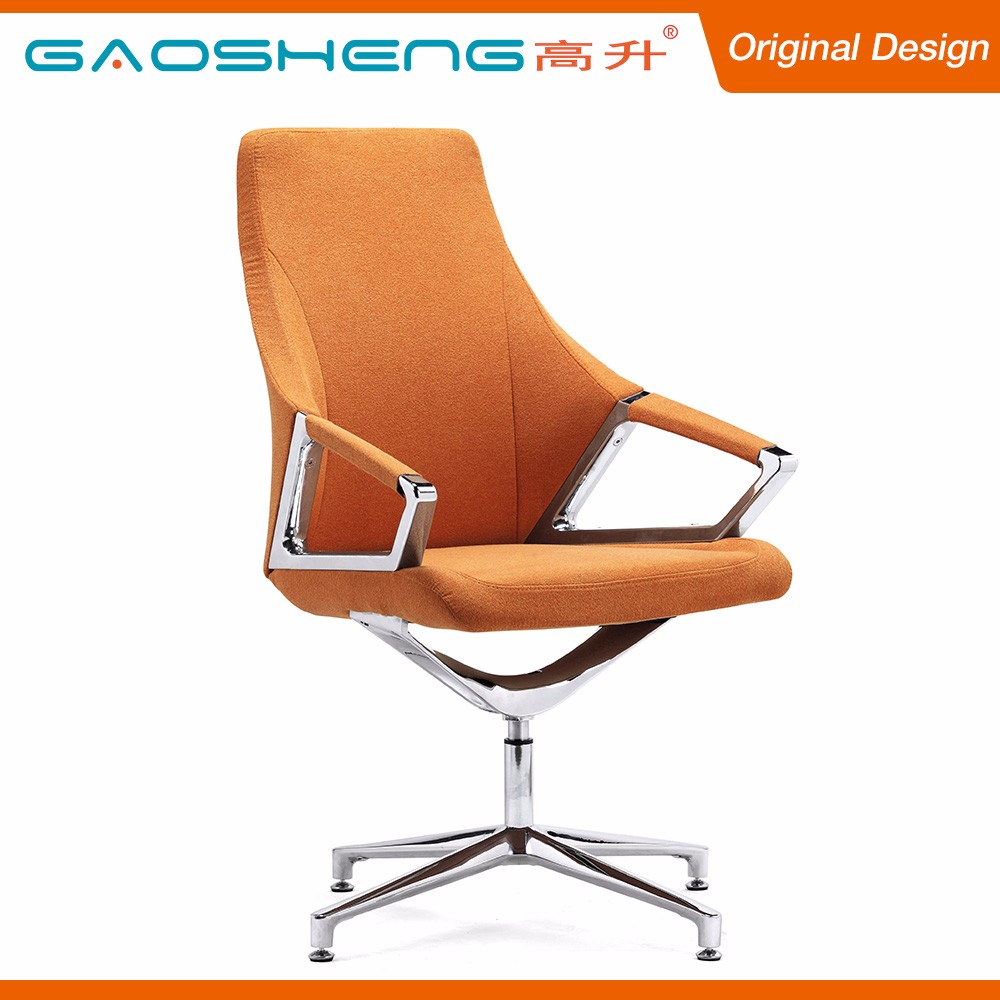 Modern Design Furniture Fabric No Wheels Swivel Office Chairs