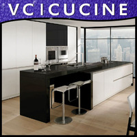 Wholesale modern MDF fitted kitchens china