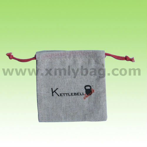 Jewelry Drawstring Jute Pouch Bag