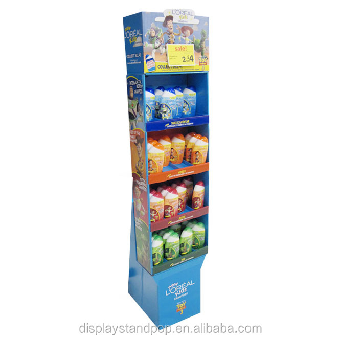 promotion 4 sided pallet cardboard display stand for olive oil