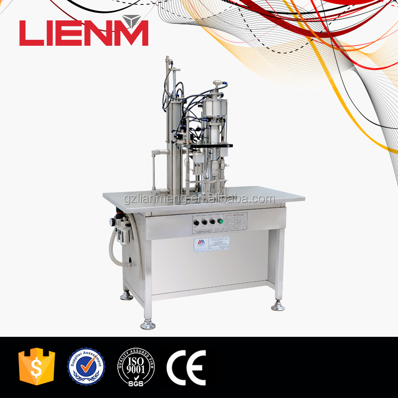 Semi Automatic Deodorant Aerosol Filling Sealing Inflating Machine