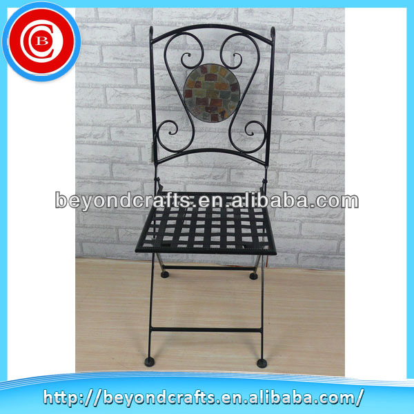 Comfortable household metal small folding chair