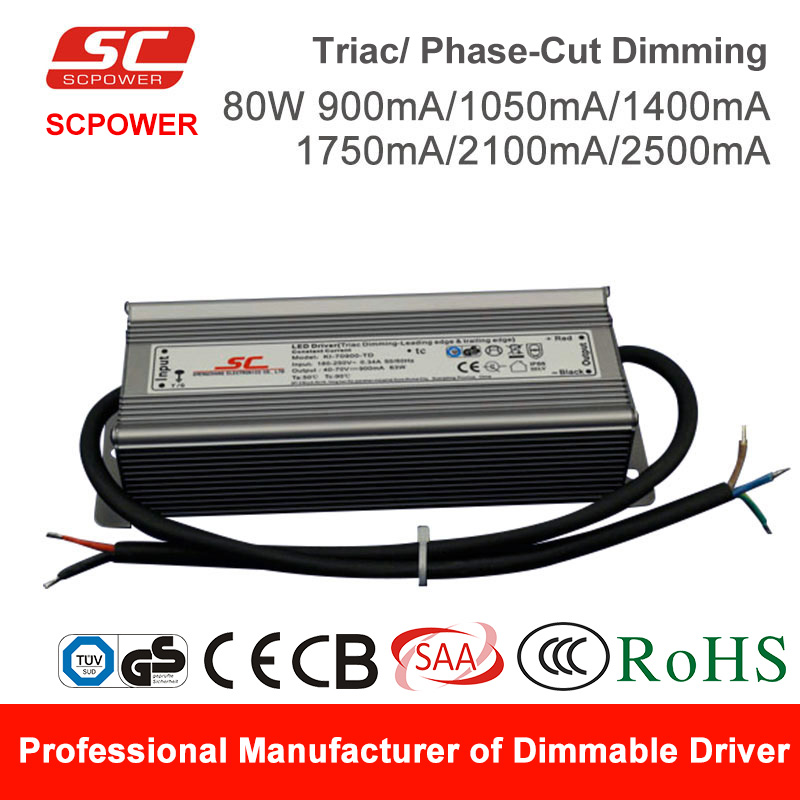 SC LED driver KI-85900-TD triac dimmable constant current 76W 900mA LED Driver
