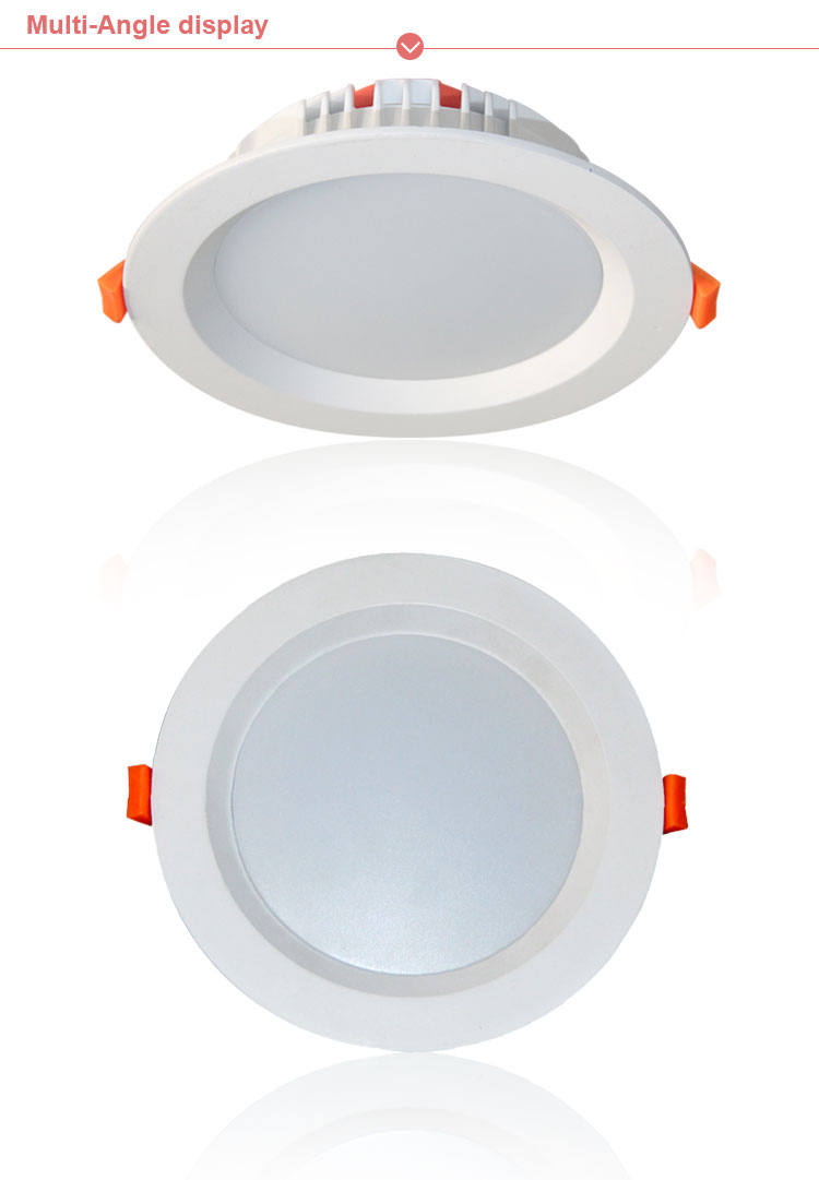 Shenzhen factory led lighting ce rohs saa smd round recessed led down light projector 12w,smart dimmable led downlight lamp ip54